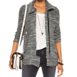 IRO Grey Ajuma Sweater Jacket Size 38/Small
